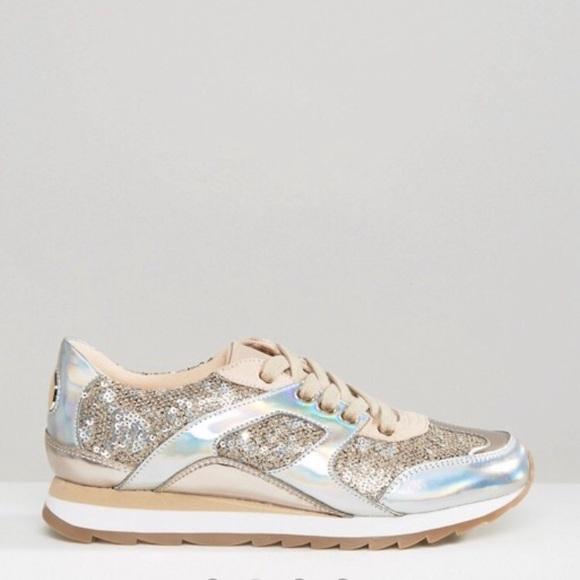 05e543db84 Aldo Shoes | Metallic Glitter Sneakers | Poshmark